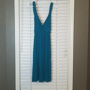 Teal midi dress
